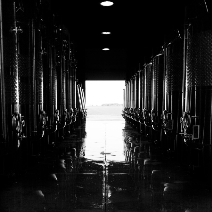 stainless steel vats Domaine de Terres Blanches